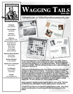 Wagging Tails Newsletter – Spring 2013
