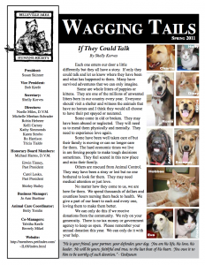 Wagging Tails Newsletter – Spring 2011